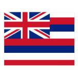 Bandera de Hawaii Tarjeta Postal