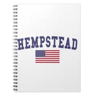 Bandera de Hempstead los E.E.U.U. Spiral Notebooks