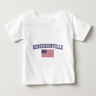 Bandera de Hendersonville los E.E.U.U. Playera De Bebé