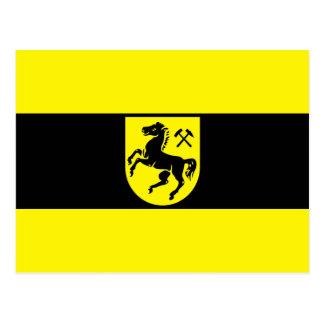 Bandera de Herne, Alemania Tarjeta Postal