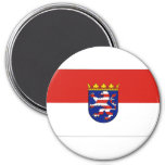 Bandera de Hesse Alemania Imanes Para Frigoríficos