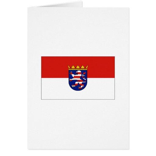 Bandera de Hesse Alemania Tarjeta De Felicitación