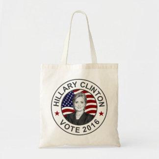 Bandera de Hillary Clinton los E.E.U.U. Bolsa Tela Barata