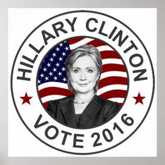 Bandera de Hillary Clinton los E.E.U.U. Póster