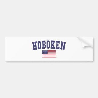 Bandera de Hoboken los E.E.U.U. Pegatina Para Auto