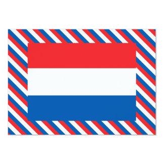 """Bandera de Holanda Invitación 5"""" X 7"""""""