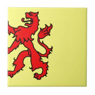 Bandera de Holanda Meridional Azulejo Cuadrado Pequeño