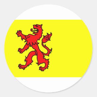 Bandera de Holanda Meridional Pegatina Redonda