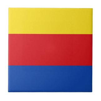 Bandera de Holanda Septentrional Azulejo Cuadrado Pequeño