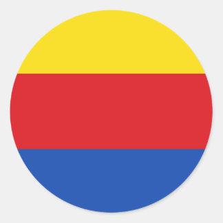 Bandera de Holanda Septentrional Pegatina Redonda