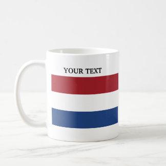 Bandera de Holanda Taza Clásica