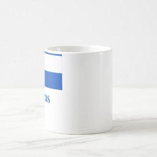 Bandera de Honduras con nombre Taza De Café