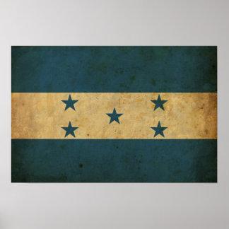 Bandera de Honduras del vintage Posters