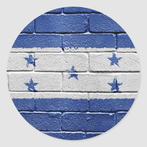Bandera de Honduras Pegatina Redonda