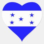 Bandera de Honduras Pegatinas Corazon