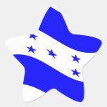 Bandera de Honduras que agita Pegatina En Forma De Estrella
