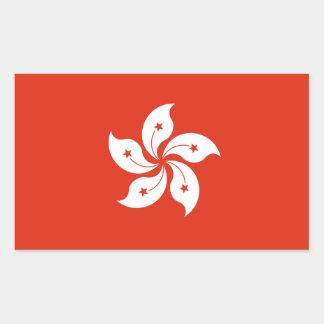 Bandera de Hong Kong. China/chino Pegatina Rectangular