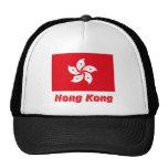 Bandera de Hong Kong con nombre Gorros