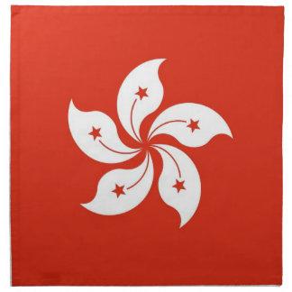 Bandera de Hong Kong en la servilleta de MoJo