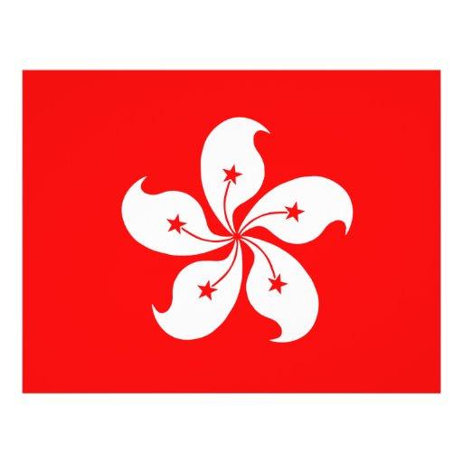 Bandera de Hong Kong Flyer A Todo Color