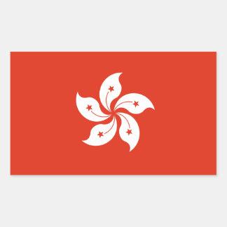 Bandera de Hong Kong Pegatina Rectangular