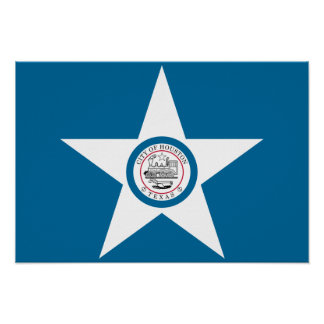 Bandera de Houston Póster