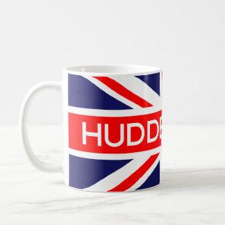Bandera de Huddersfield Reino Unido Taza Básica Blanca