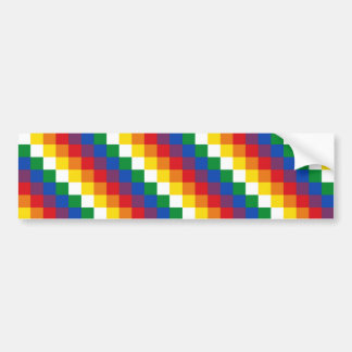 Bandera de Huipala/Wipala. Qulla andino Suyu. Boli Pegatina Para Auto