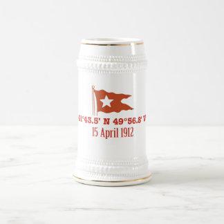 Bandera de hundimiento titánica de la estrella de jarra de cerveza