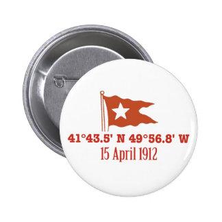 Bandera de hundimiento titánica de la estrella de  pins