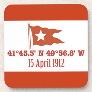 Bandera de hundimiento titánica de la estrella de posavasos de bebidas