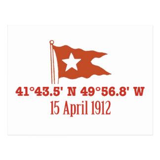 Bandera de hundimiento titánica de la estrella de  postal