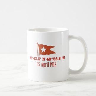 Bandera de hundimiento titánica de la estrella de taza clásica