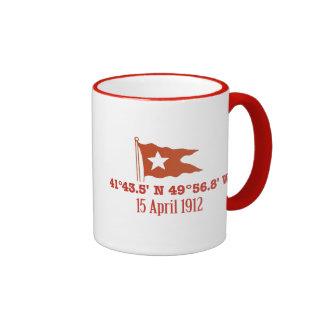 Bandera de hundimiento titánica de la estrella de taza de dos colores