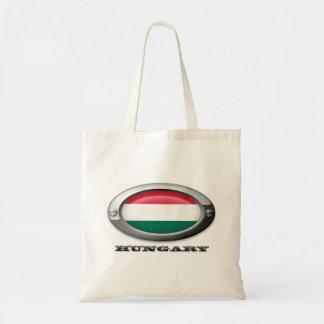 Bandera de Hungría en el marco de acero Bolsa Tela Barata