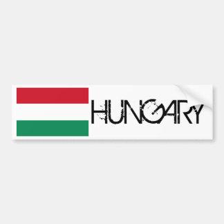 Bandera de Hungría Pegatina Para Auto
