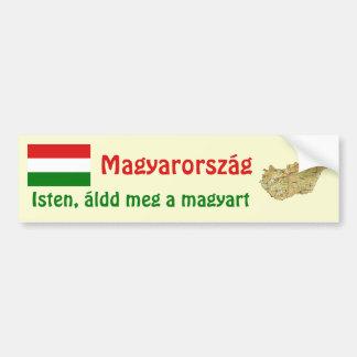 Bandera de Hungría + Pegatina para el parachoques Pegatina Para Auto