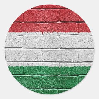 Bandera de Hungría Pegatina Redonda