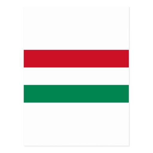 Bandera de Hungría Tarjetas Postales