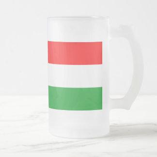 Bandera de Hungría Taza Cristal Mate