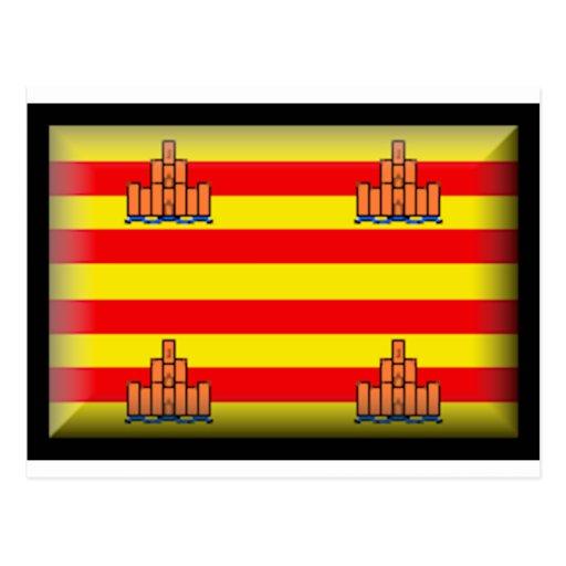 Bandera de Ibiza (España) Tarjetas Postales