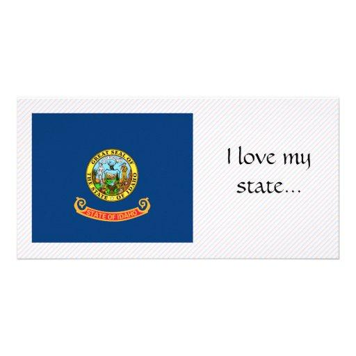 Bandera de Idaho Tarjeta Con Foto Personalizada