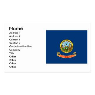 Bandera de Idaho Tarjetas De Visita