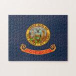 Bandera de Idahoan del modelo del vintage Rompecabezas