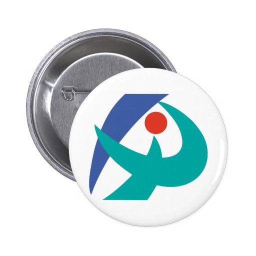 Bandera de Iga, Mie, Japón Pin Redondo De 2 Pulgadas