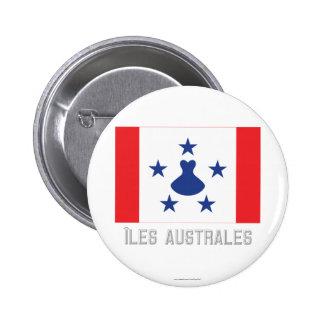 Bandera de Îles Australes con nombre Pins