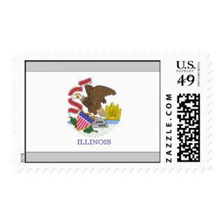 Bandera de Illinois Franqueo