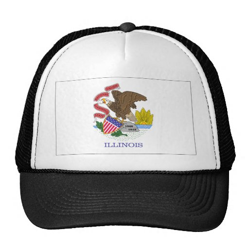 Bandera de Illinois Gorros Bordados