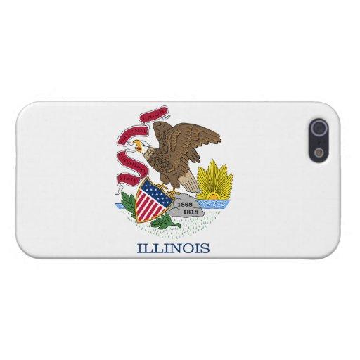 Bandera de Illinois iPhone 5 Cárcasa