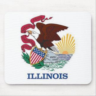 Bandera de Illinois Mousepads